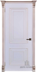 Дверь ИТАЛО багет 30 эмаль белая патина капучино