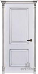 Дверь ИТАЛО багет 32 эмаль белая патина серебро