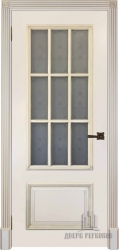 Дверь БРИТАНИЯ эмаль слоновая кость со стеклом