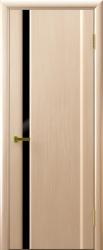 Двери Люксор Синай 1 беленый дуб черный триплекс