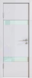 Межкомнатная дверь 502 белый глянец стекло белое