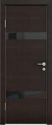 Межкомнатная дверь 502 венге горизонт стекло