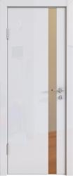 Межкомнатная дверь 507 белый глянец зеркало бронза