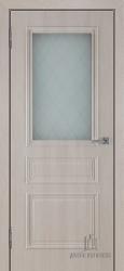 Межкомнатная дверь Римини крем стекло