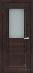 Межкомнатная дверь Римини шоколад стекло