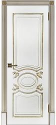Дверь Аристократ Эмаль белая с патиной капучино