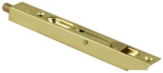 Ригель врезной LX140 PB золото