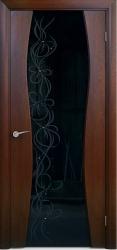 Двери Люксор Лиана 2 красное дерево