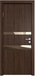 Межкомнатная дверь 512 мокко стекло бронза