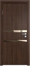 Межкомнатная дверь 513 мокко стекло бронза