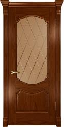 Двери Люксор Венеция дуб сандал стекло