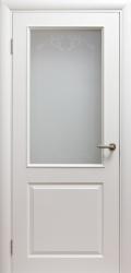 Дверь Портэ Виста Соленто 2 RAL 9010 стекло песок