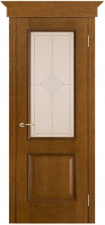 Дверь Вист Шервуд античный дуб (тон 14) стекло Ромб