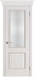 Дверь Вист Шервуд белая патина (тон 17) стекло Классик