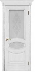 Дверь Вист Ницца серебряная патина (тон 25) со стеклом