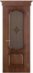 Дверь Вист Премьера Голд (патина Голд) стекло Ромб