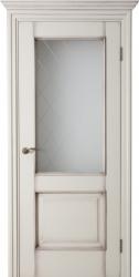 Дверь Портэ Виста Соленто 2 эмаль и патина стекло гравировка