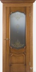 Дверь Портэ Виста Флоренция Престиж светлый мед стекло кристаллайз