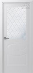 Белорусские двери Элина белая эмаль стекло