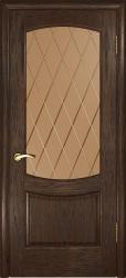Двери Люксор Лаура 2 мореный дуб алмазная грань