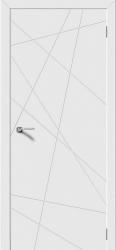 Дверь LINE белая эмаль