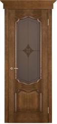 Дверь Вист Премьера Каштан (тон 11) стекло Премьера Ромб