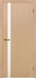 Двери Матадор Веста 1 белёный дуб, каленое стекло мателюкс