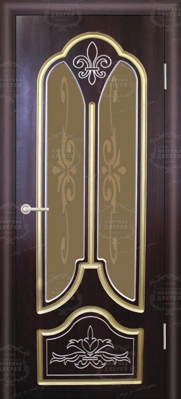 Межкомнатная дверь фабрики александрийские двери италия золотая патина, с