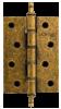 Петля 100X70X25 4W Aged bronze