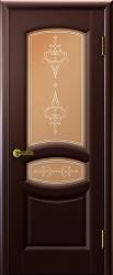 Двери Люксор Анастасия венге стекло