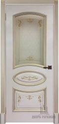 Дверь БАГЕТ 3 эмаль слоновая кость со стеклом