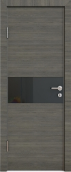 Межкомнатная дверь 501 ольха темная стекло