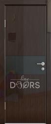 Межкомнатная дверь 501 венге глянец стекло черное