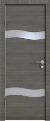 Межкомнатная дверь 503 ольха темная стекло