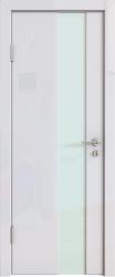 Межкомнатная дверь 504 белый глянец стекло белое
