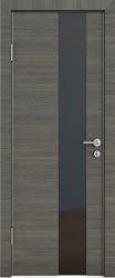 Межкомнатная дверь 504 ольха темная стекло