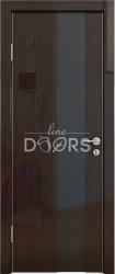 Межкомнатная дверь 504 венге глянец черное стекло