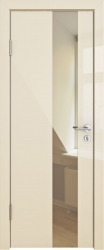 Межкомнатная дверь 504 ваниль глянец зеркало