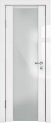 Дверь ДО ДИАНА белый глянец белое стекло