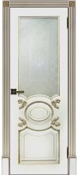 Дверь Аристократ Эмаль белая стекло