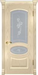 Двери Люксор Грация слоновая кость стекло