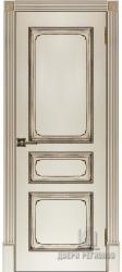 Дверь Классика-5 Эмаль слоновая кость с патиной орех