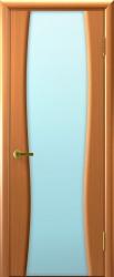 Двери Люксор Клеопатра 2 светлый анегри тон 34 стекло белое