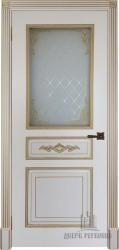 Дверь ЛАЦИО эмаль слоновая кость со стеклом