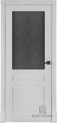 Дверь ПРАГА белая эмаль стекло афина