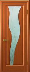Двери Люксор Торнадо 2 темный анегри тон 74 стекло