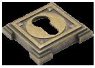 Накладка на цилиндр SC VQ001 Aged bronze