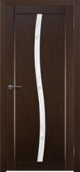 Двери Матадор Арго венге, стекло мателюкс с объемным  художественным рисунком и фьюзингом с двух сторон
