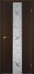 Двери Матадор Астра 2 венге, зеркало, с элементами художественной пескоструйной обработки