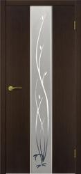 Двери Матадор Астра венге, зеркало, с элементами художественной пескоструйной обработки